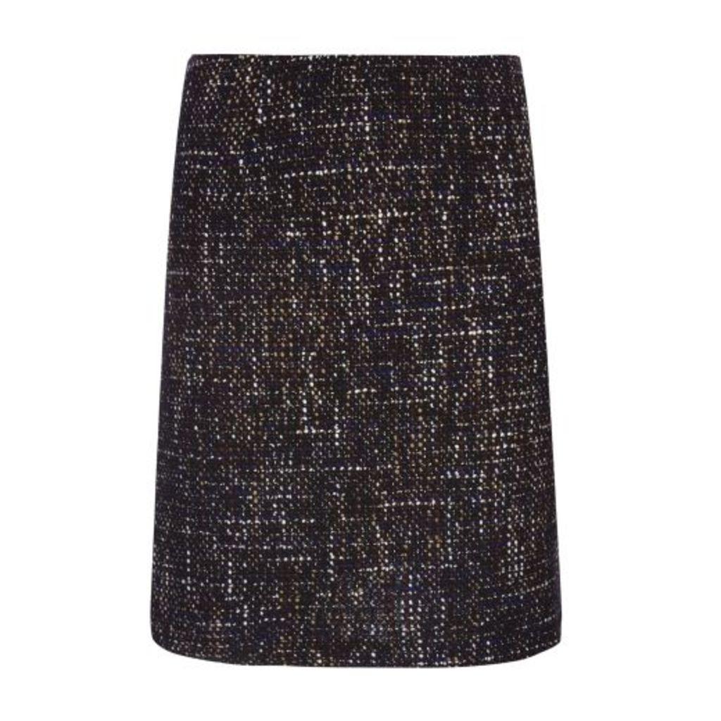Navy Boucle Skirt