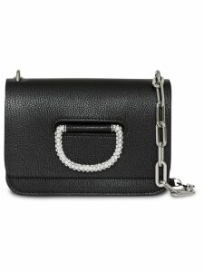Burberry The Mini Leather Crystal D-ring Bag - Black
