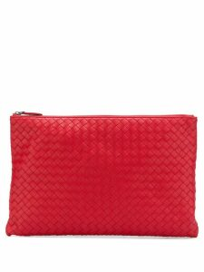 Bottega Veneta envelope clutch - Red