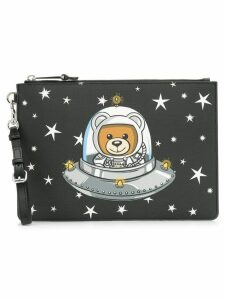 Moschino Teddy Bear print clutch - Black