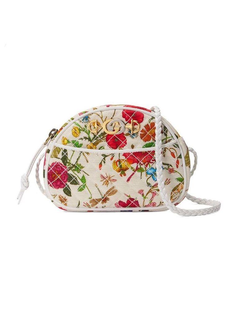 Gucci Flower print mini bag - White