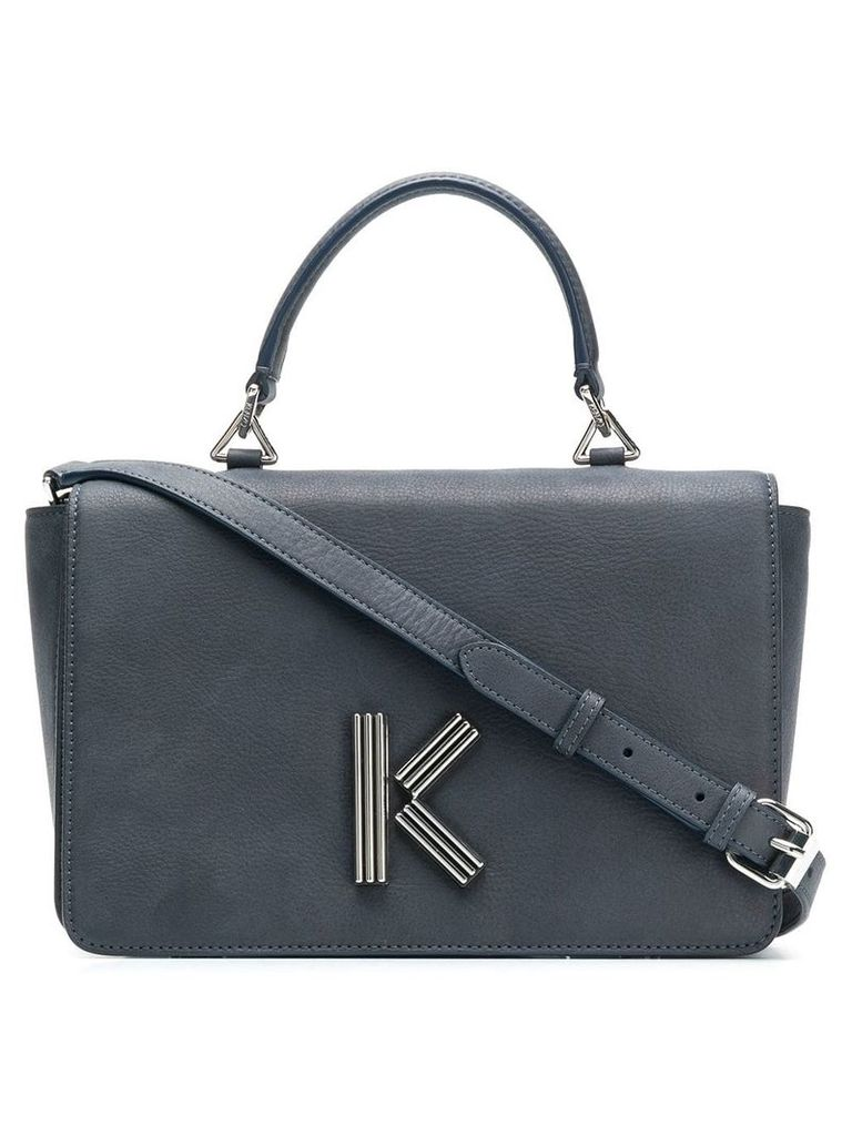 Kenzo logo shoulder bag - Blue