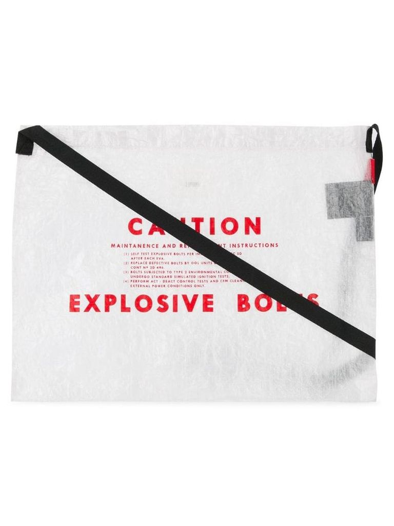 Undercover Caution shoulder bag - White