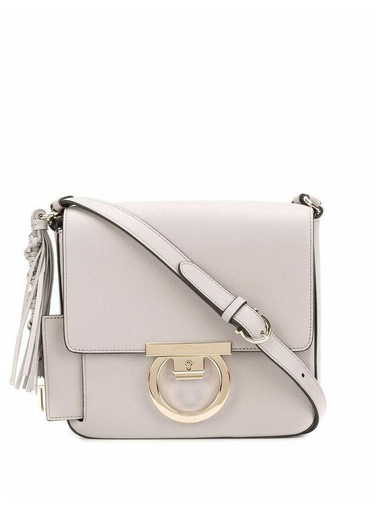 Salvatore Ferragamo Gancio lock shoulder bag - Grey