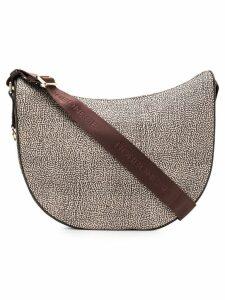 Borbonese printed hobo shoulder bag - Neutrals