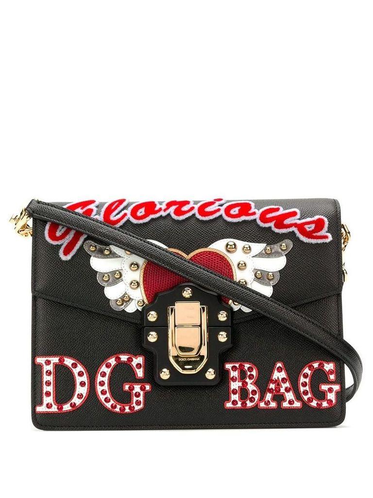 Dolce & Gabbana Lucia embellished shoulder bag - Black