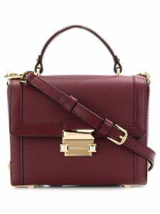 Michael Michael Kors Jayne small pebbled trunk bag - Red