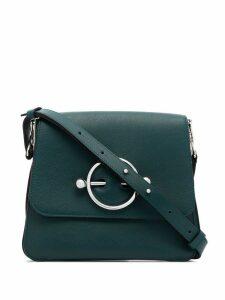 JW Anderson green Disc leather shoulder bag