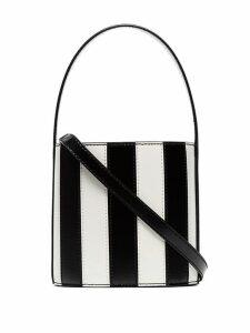 Staud Black Bissett Leather Bucket Bag