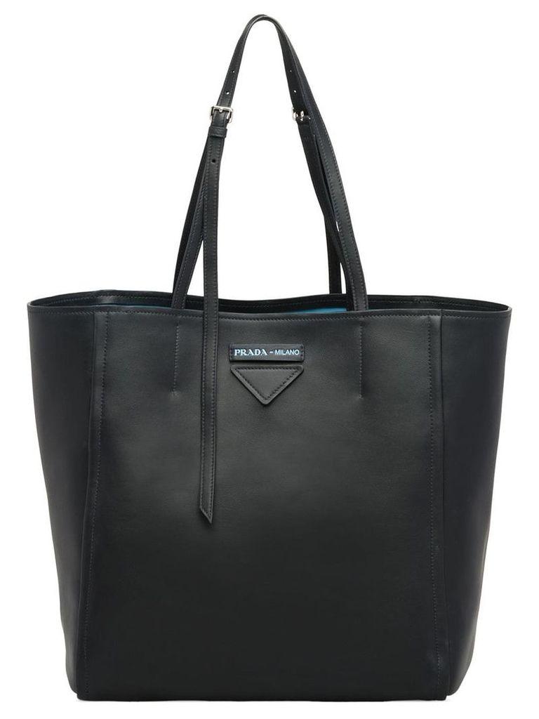 Prada Concept medium leather tote - Black