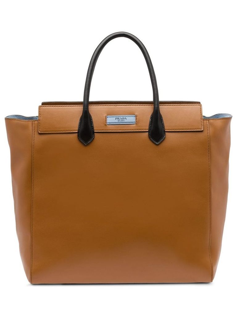 Prada Leather tote bag - Brown