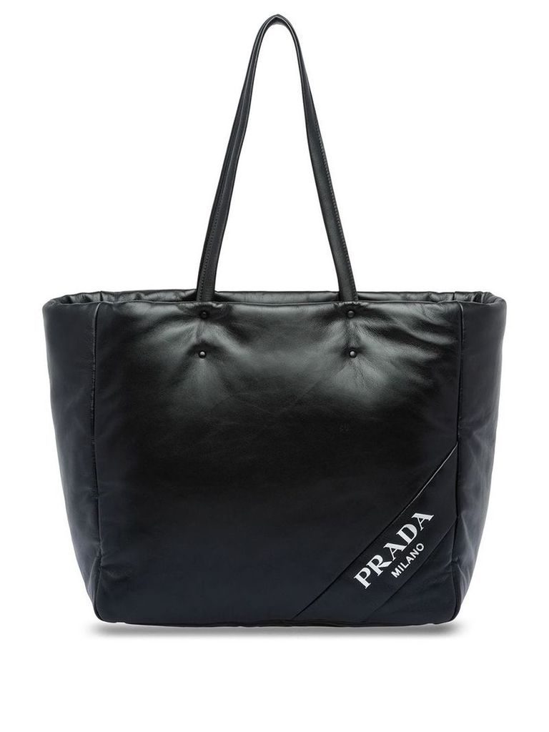 Prada logo shopping bag - Black