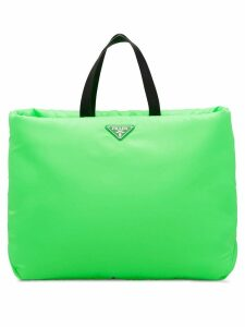 Prada Large Padded nylon tote - Green
