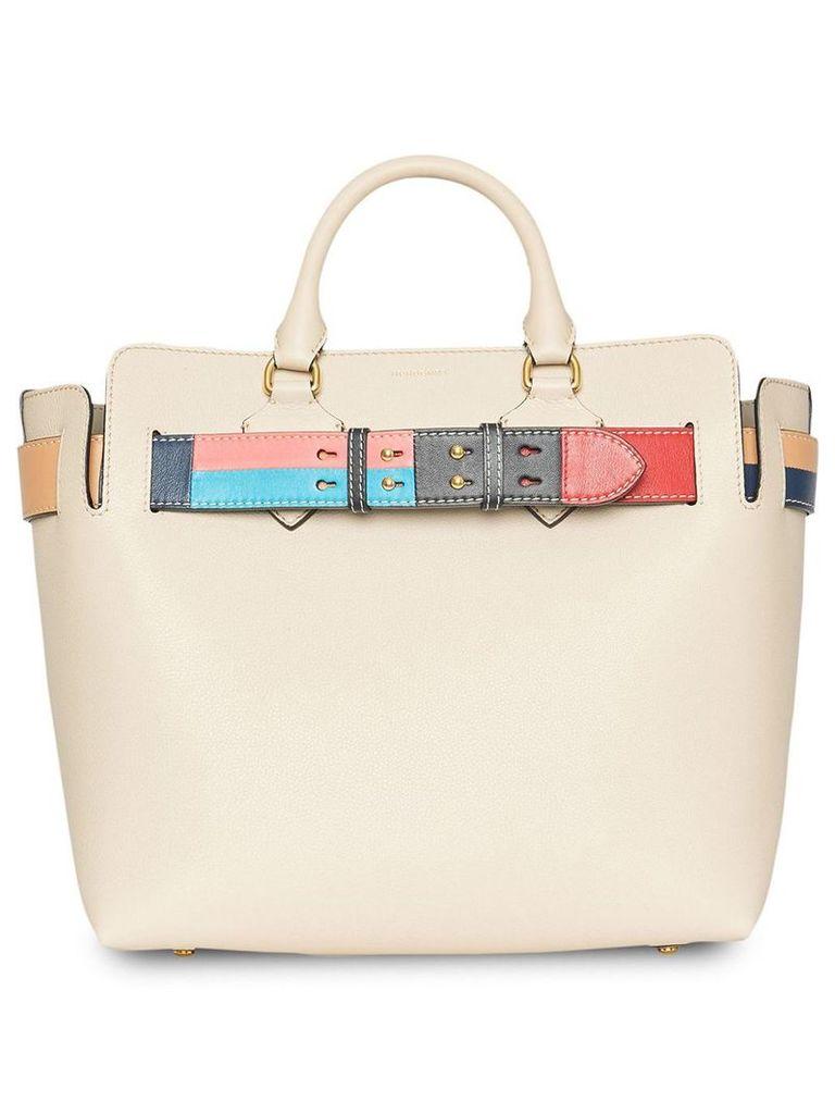 Burberry The Medium Leather Colour Block Detail Belt Bag - Neutrals