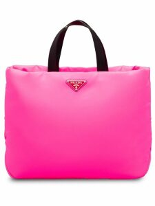 Prada Medium Padded nylon tote - Pink