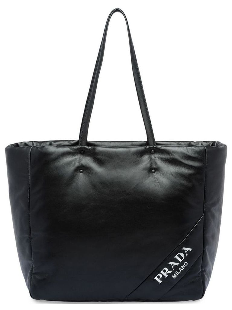 Prada medium nappa shopping tote - Black