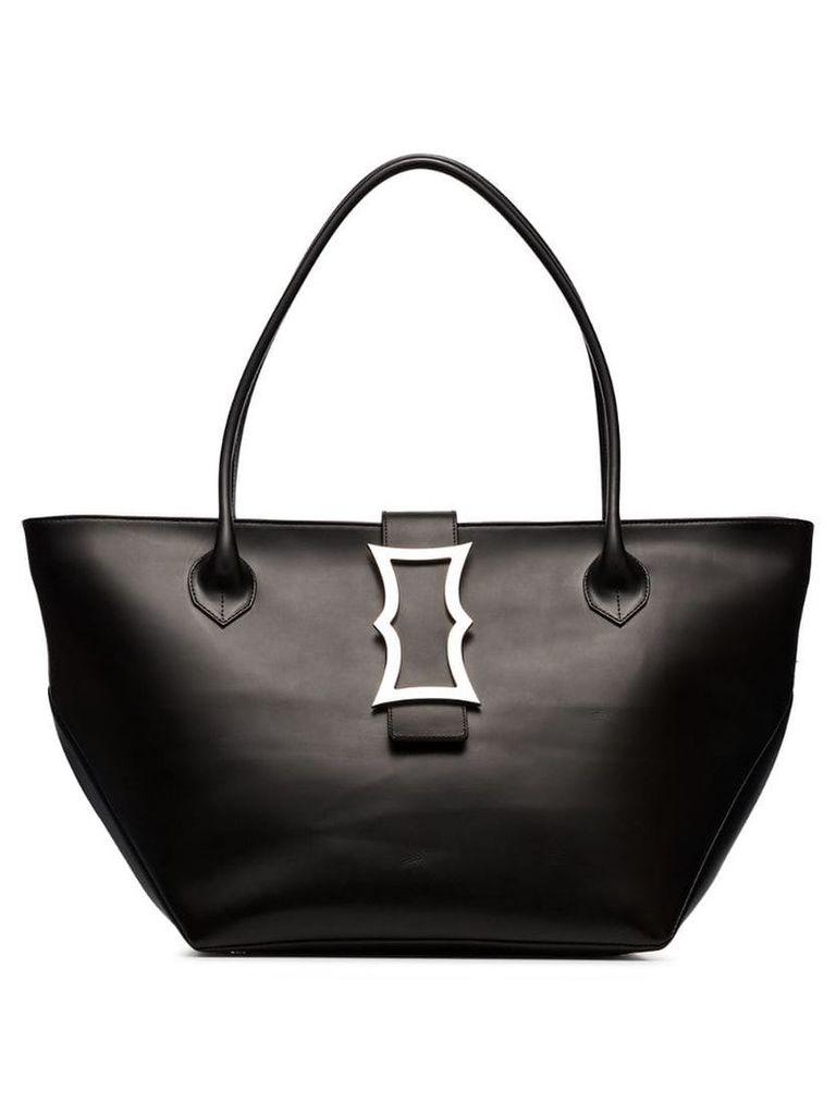 Dorateymur black lament leather tote bag