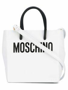 Moschino cross-body mini shopper bag - White