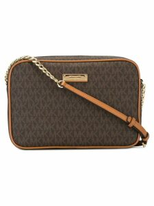 Michael Michael Kors logo print zip top bag - Brown