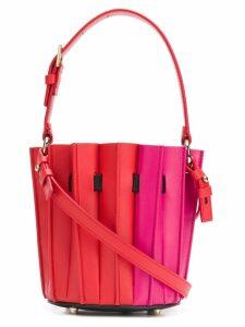 Sara Battaglia mini fitted bucket bag - Red
