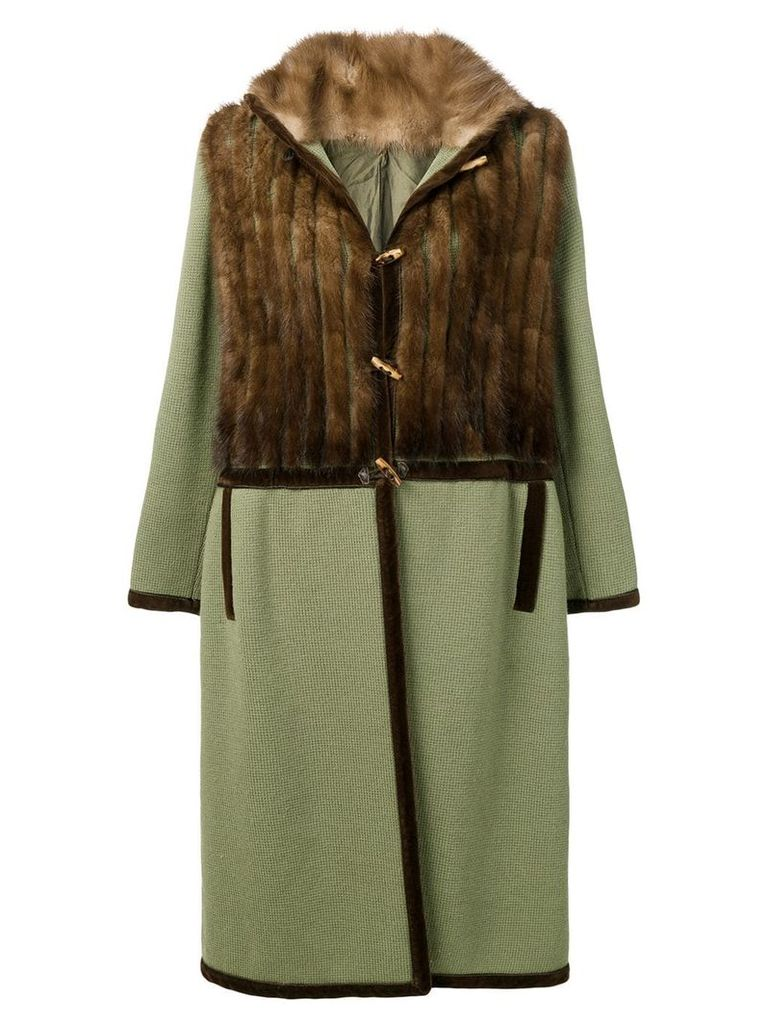 A.N.G.E.L.O. Vintage Cult 1970's fur panel coat - Green