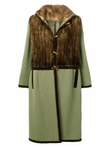 A.N.G.E.L.O. Vintage Cult 1970's fur panel coat - Green