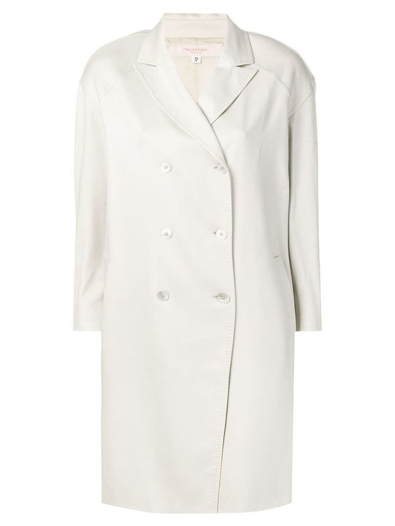 Valentino Vintage 2000's double-breasted midi coat - Grey
