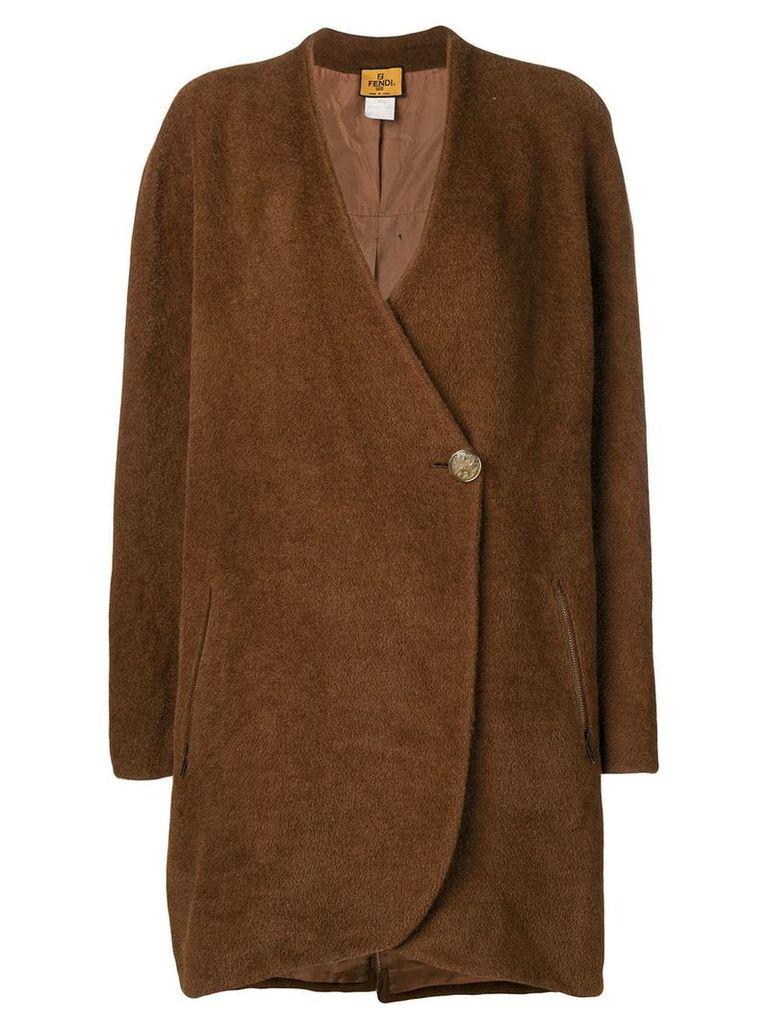 Fendi Vintage single button coat - Brown