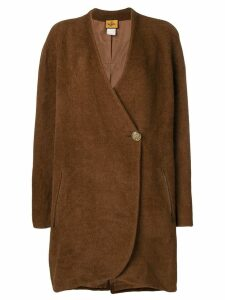 Fendi Pre-Owned single button coat - Brown