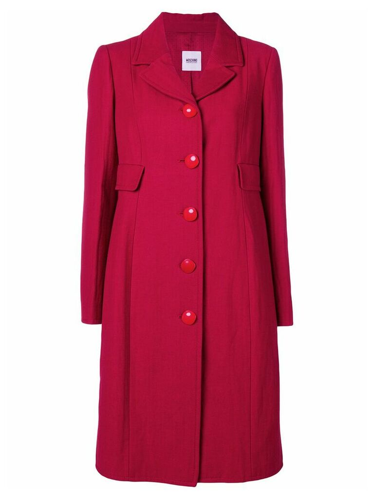 Moschino Vintage single breasted midi coat - Red