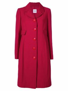 MOSCHINO PRE-OWNED single breasted midi coat - Red