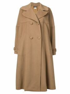 Fendi Pre-Owned double breasted midi coat - Brown