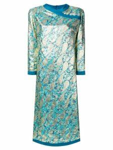A.N.G.E.L.O. Vintage Cult 1960's paisley jacquard dress - Blue