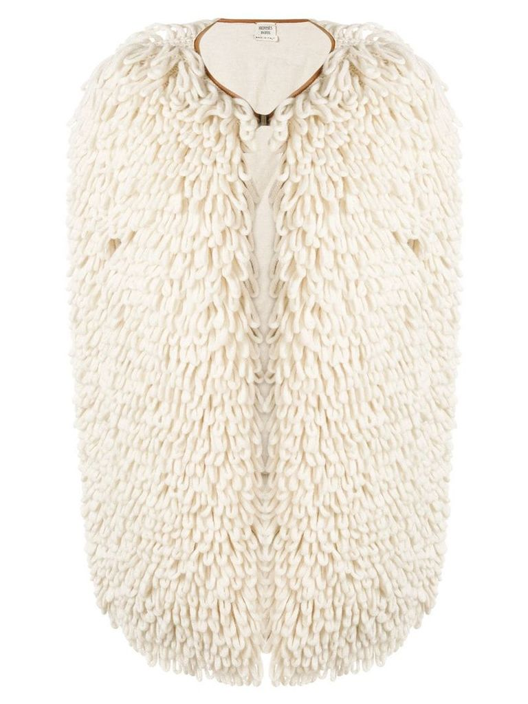 Hermès Vintage 2000's knitted open gilet - White