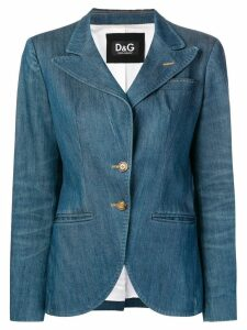 Dolce & Gabbana Pre-Owned 2000's fitted denim blazer - Blue