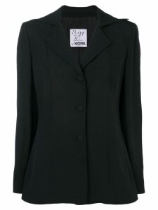 Moschino Pre-Owned single breasted blazer - Black