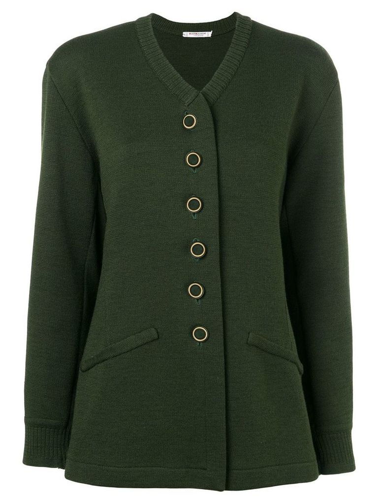 Yves Saint Laurent Vintage knitted buttoned cardigan - Green