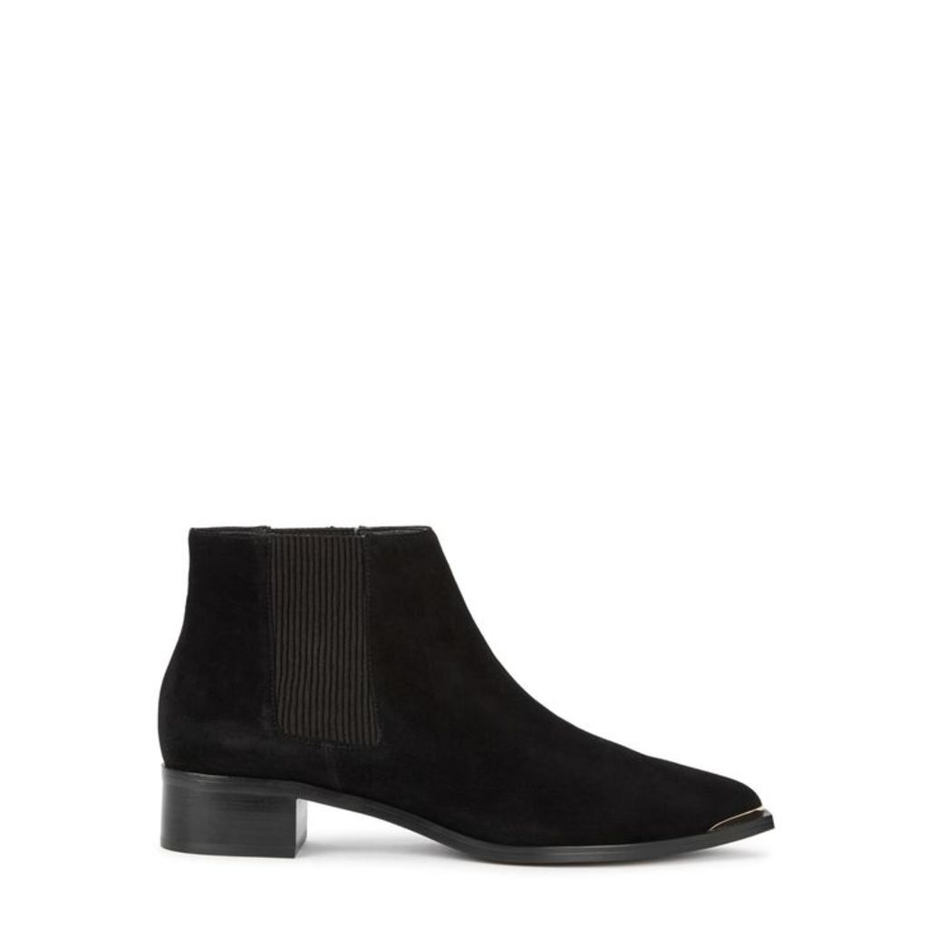 Senso Leon II 40 Black Suede Ankle Boots