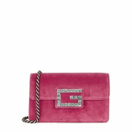 Gucci Broadway Pink Velvet Shoulder Bag