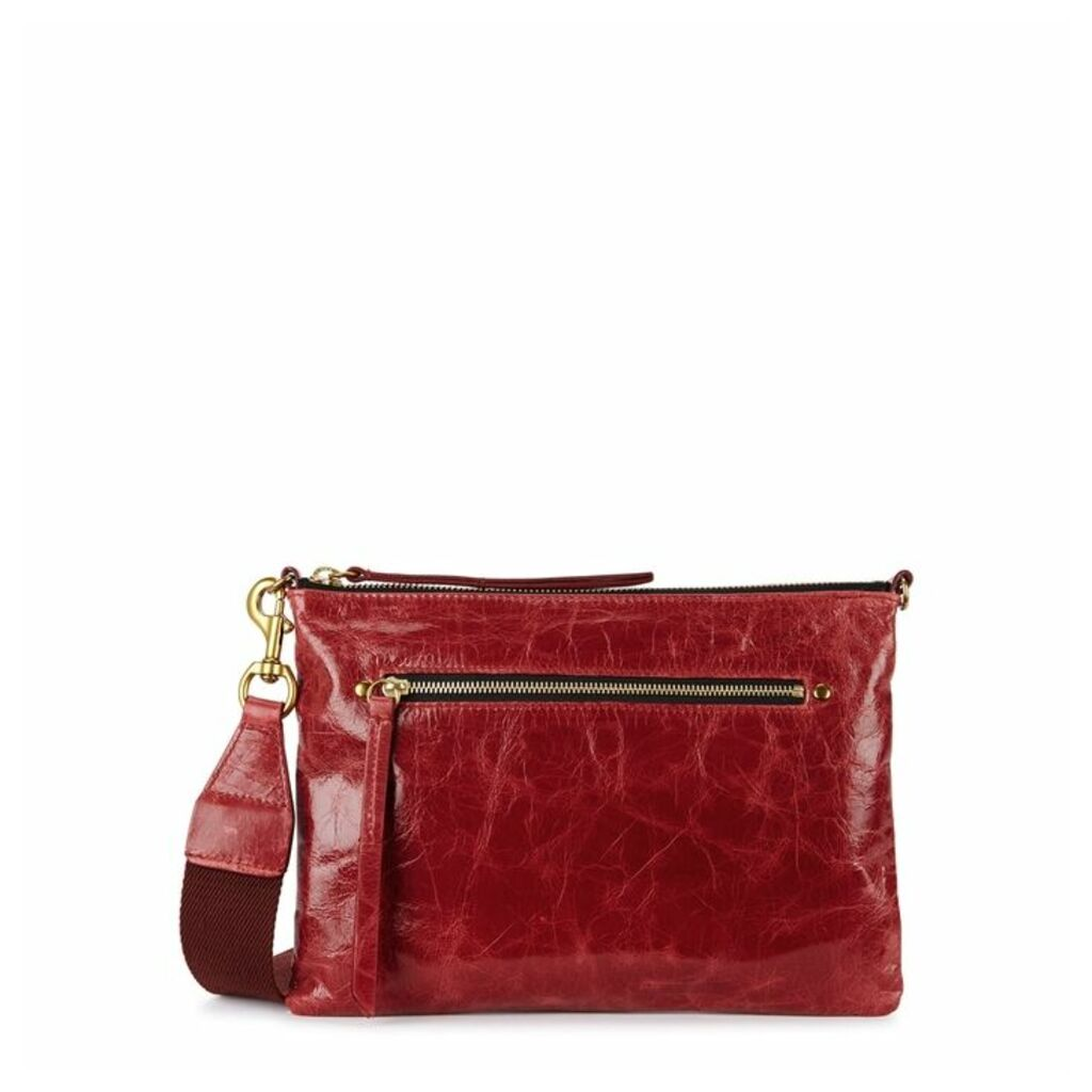 Isabel Marant Nessah Red Leather Cross-body Bag