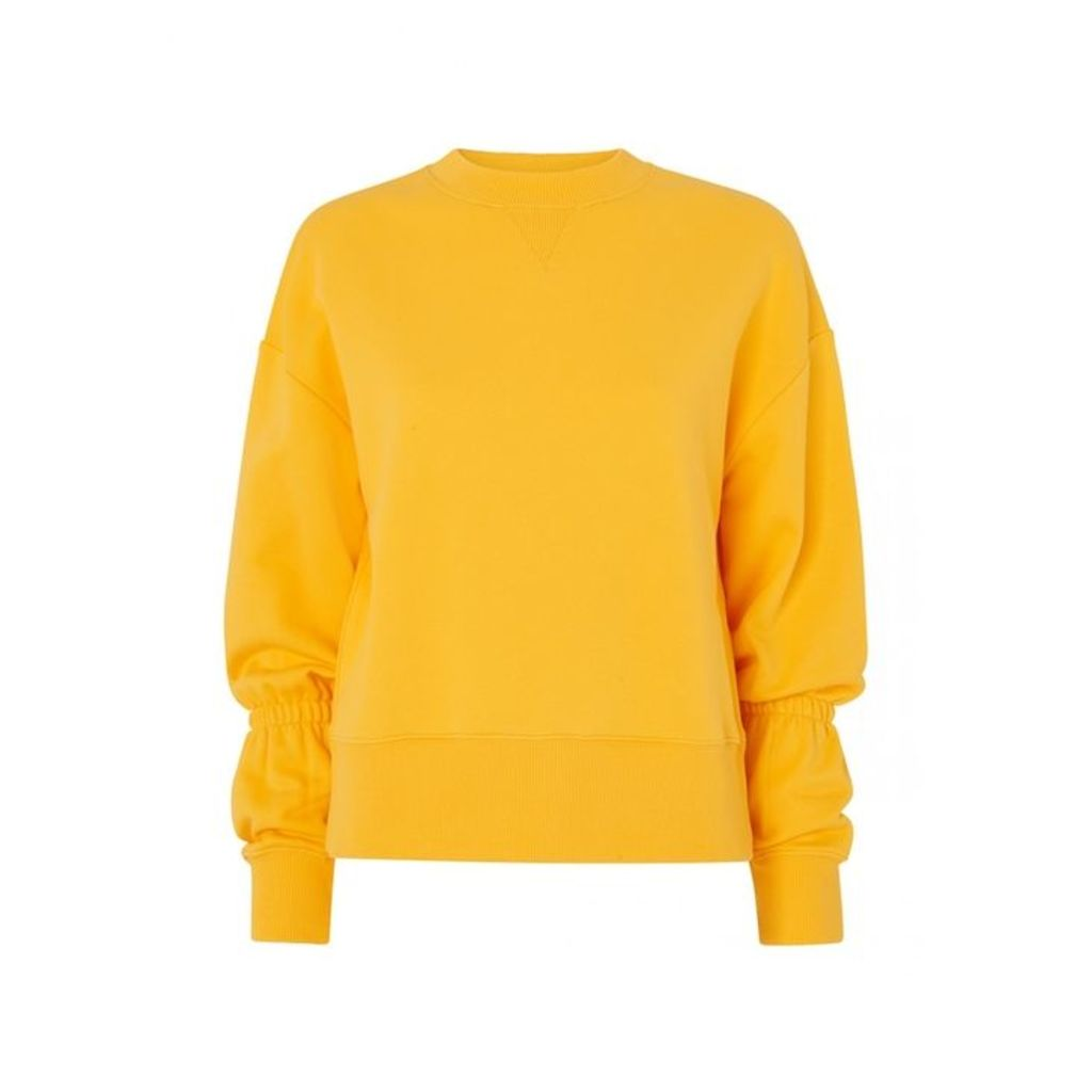 Kitri Roman Yellow Elasticated Sweatshirt