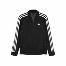 Adidas Training Snap Track Black Jersey Sweatshirt