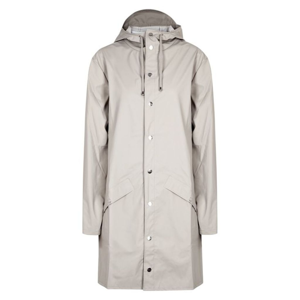 Rains Light Grey Rubberised Raincoat