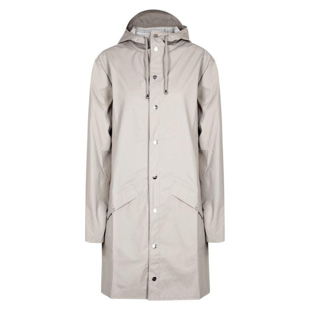 Rains Light Grey Rubberised Raincoat