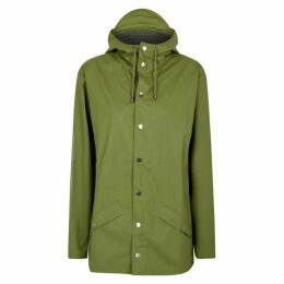 Rains Green Rubberised Raincoat