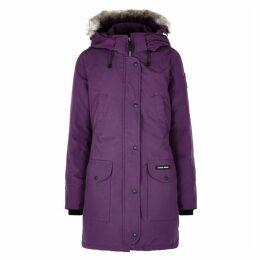 Canada Goose Trillium Purple Fur-trimmed Parka