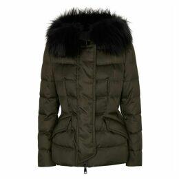 Moncler Sterne Fur-trimmed Shell Jacket