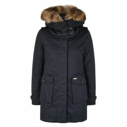 Woolrich Scarlett Navy Shell Jacket And Cotton Parka