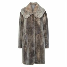 Dom Goor Grey Fur-effect Shearling Coat