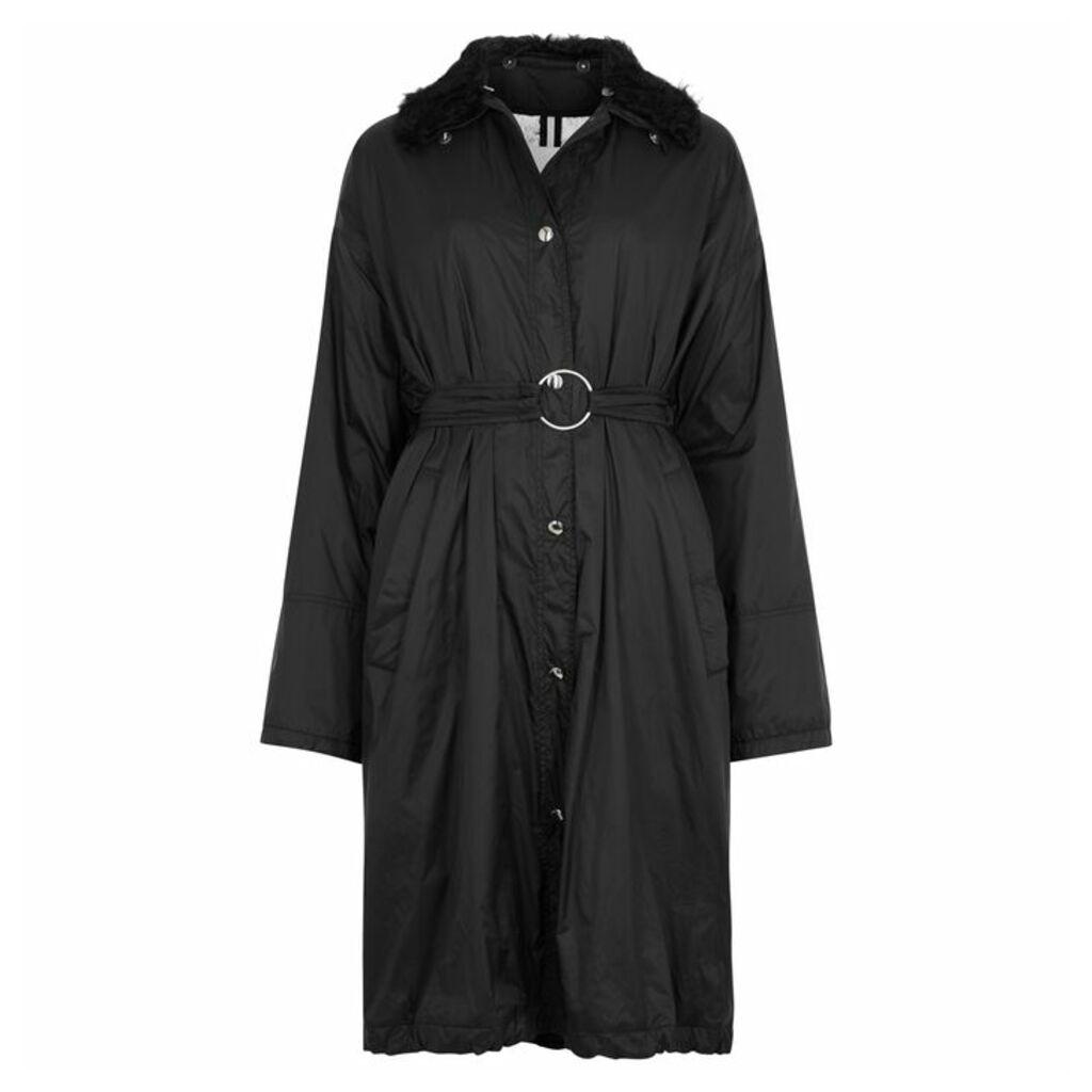 Yves Salomon Black Shearling-trimmed Shell Jacket